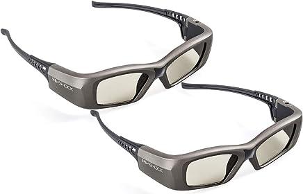 2X Hi-Shock Oxid Diamond   Dual Play RF/BT Pro 3D Glasses for HDR/FullHD/4k 3DTV RF 3D Projectors comp. with SSG-3570CR/TDG-BT500A/AN3DG35/TY-ER3D6ME/FPT-AG04/AG-S350/FPS3D08