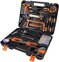Hand Tool Household Tool Kits Home Repair Tool Set Carbon Steel Tool Box Durable Updated Practical for Car Home Auto Repai...