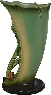 Roseville Pottery Pine Cone Green Art Deco Ceramic Vase 490-8