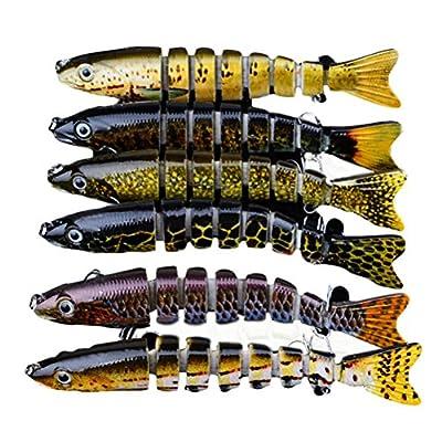 "B-Comrade 1pcs Fishing Lure 13cm/5.1""-0.65oz/18.8g 6# Hook Multi Jointed Baits by Baymin"