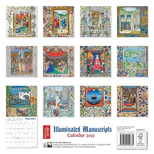 『British Library - Illuminated Manuscripts Wall Calendar 2021 (Art Calendar)』の1枚目の画像