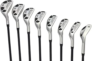 Men's Powerbilt Golf EX-550 Hybrid Iron Set, which includes: #4, 5, 6, 7, 8, 9, PW +SW Regular Flex Graphite Right Handed New Rescue Utility Clubs