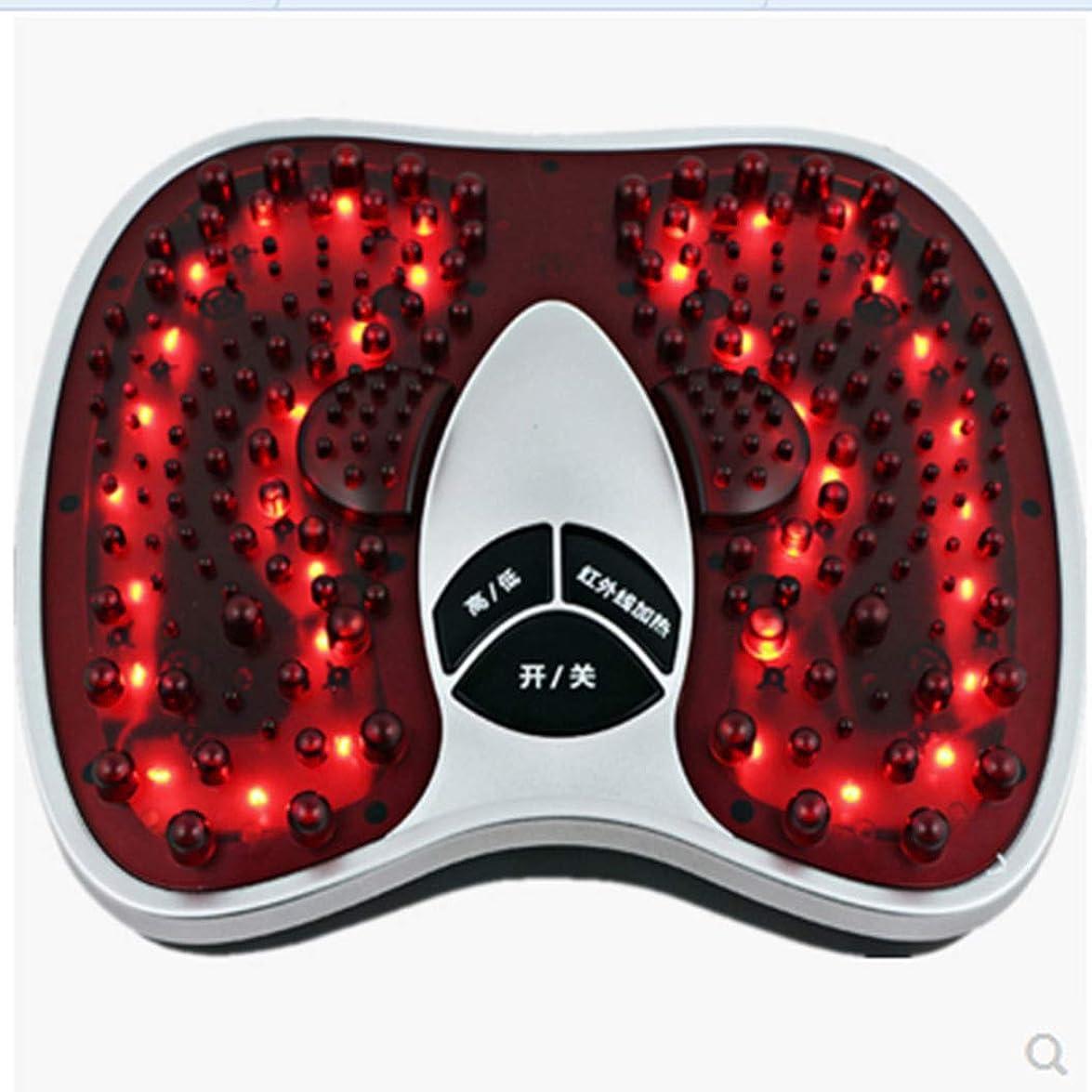 味付け本部に賛成電気の 足マッサージ、熱の改善、循環の改善、202マッサージヘッドのf、硬い筋肉の柔らかさ、鎮痛トリートメント 人間工学的デザイン, red