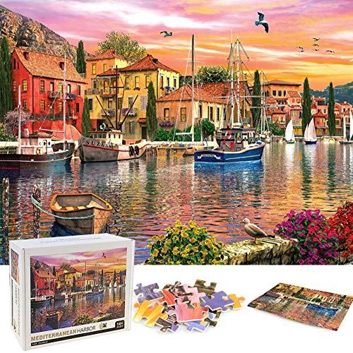 Puzzle Redondo 1000 Piezas,Puzzle,Rompecabezas Redondo,Puzzle Creativo,Puzzle Adultos (Puerto)