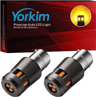 Yorkim 1156 LED Bulb Extremely Bright 6000K 3000 Lumens BA15S 1003 1141 7506 LED Bulb for Backup Reverse Light,Tail Light, Brake Light, Amber