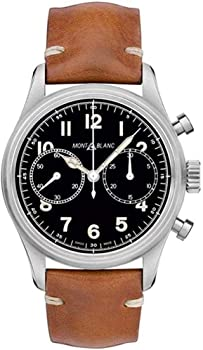 Montblanc 1858 Chronograph Automatic Black Dial Men's Watch
