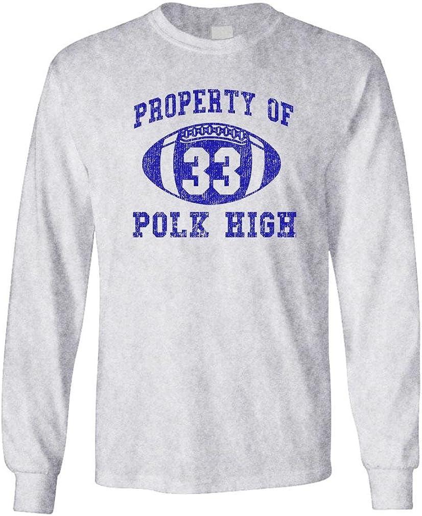 Polk HIGH - Funny Bundy Football Champ 33 - Long Sleeved Tee