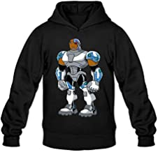 XIULUAN Men's Cyborg Victor Vic Stone DC Comic Superheroes Hoodied Sweatshirt M ColorName Long Sleeve