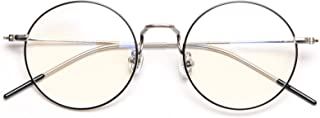 DOLLGERブルーライトカットメガネ PCメガネ 85%ブルーライトカット 丸い眼鏡 15g超軽量 透明レンズ ラウンド 男女兼用