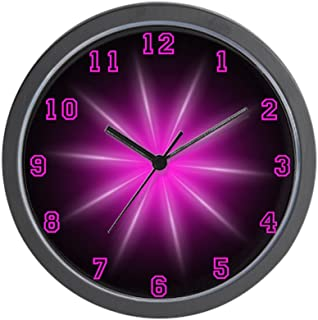 CafePress-Pink Neon Star-Wall Clock