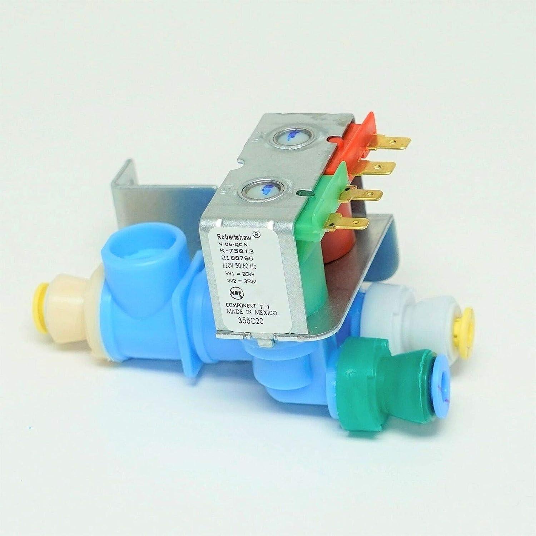 LYYRMF K-75813 refrigerator water inlet solenoid valve for Whirl