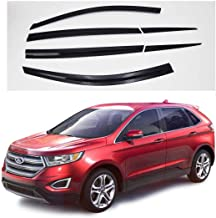 AUTOCLOVER Dark SMOKW Side Window Vent Visor 6 Piece Set for Ford Edge 2015 2016 2017 2018 2019 / Safe RAIN Out-Channel Guard Deflector