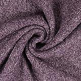 Wollstoff meliert lila Winterstoff - Preis gilt für 0,5
