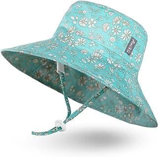 Ami&Li tots - Ami & Li tots Niña Sombrero de Sol Bob Ajustable para Bebé Niña Niño Infantil Niños Pequeños Sombrero Protección Solar UPF 50 Unisexo