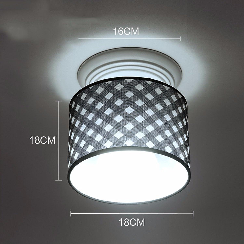 XHOPOS HOME Plafonnier Lampe modernes minimaliste chambre les couloirs les lampes du couloir les couloirs les lumières lumières de la salle balcon lumière blanche 18  18cm