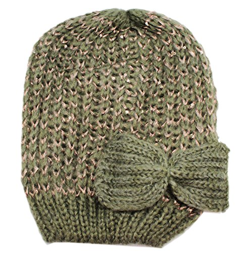Style 101 Dull Green Colored Knit Acrylic Beanie - By Ganz