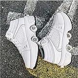 DHTOMC Patins À roulettes Déformation LED Walking Skates Kick Roller Shoe Baskets Mode Respirant De Course Antidérapantes pour Les Débutants Adultes Et Enfants,EUR38