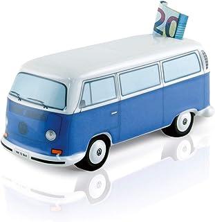 BRISA VW Collection - Volkswagen Combi Bus T2 Camper Van Tirelire en céramique, Petit Cochon avec Coffret Cadeau, Grande C...