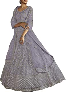 PINKKART Indiano/Pakistano Designer Musulmano Soft Net Lehenga Choli Dupatta Ghaghara Gonna Vestito 5256 d