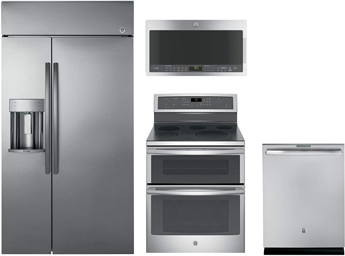 GE Profile 4-Pcs Kitchen Package with PSB42YSKSS 42