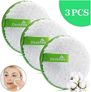 Makeup Remover Pads Reusable, Facial Make Up Removal Wipes, Washable Face Cleaning Cloths, Soft Cotton Rounds Towelettes, Hypoallergenic for Mascara, Eye Shadow, Lipstick, Foundation -3 pcs, 4.5