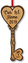 Our First Home KEY to Couples Heart Personalized Wood Ornament Housewarming Home Decor Ornament Custom New Home Newlyweds Newly Married Engaged Christmas Gift from Realtor