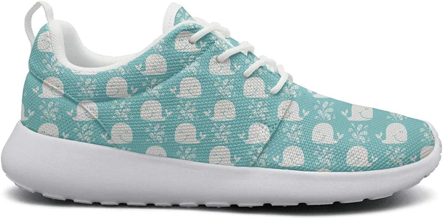 Ipdterty Wear-Resistant Training Sneaker Cute Whales Young Women Soft Athletic Running shoes