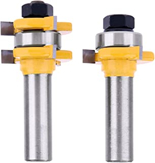 Yakamoz 1/2 Inch Shank Tongue and Groove Router Bit Set 3/4