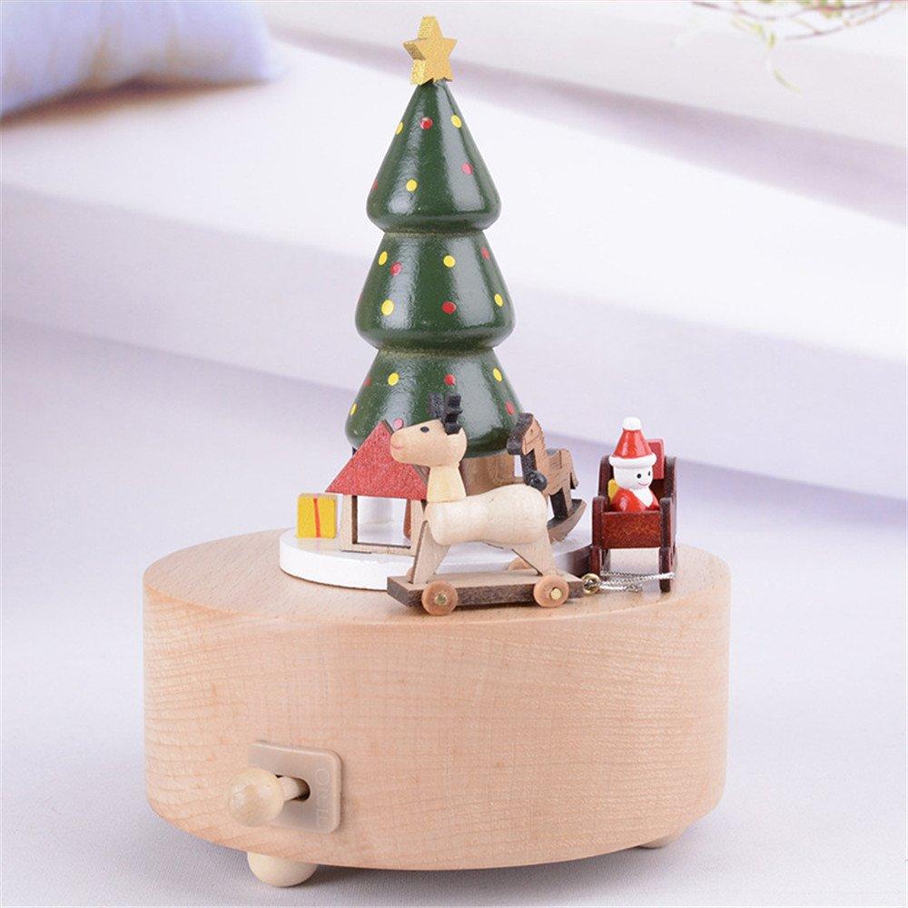 Kenor Árbol de Navidad Caja Musical Cajas De Música De Madera ...