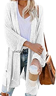 Women's Loose Open Front Long Sleeve Knit Sweater Blouses Cardigans
