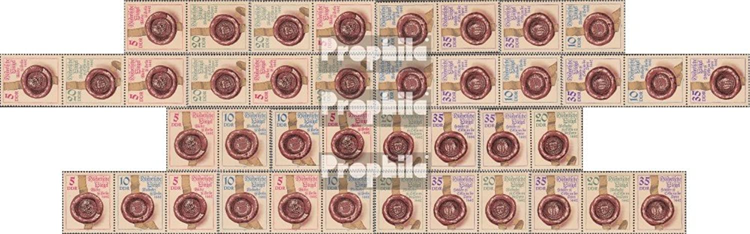 DDR WZd600-WZd607, SZd266-SZd273 (Complete.Issue.) 1984 Historical Seal (Stamps for Collectors)
