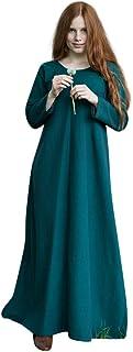 Mittelalter Unter Kleid Freya grün Kostüm Zubehör Baumwolle - XXL