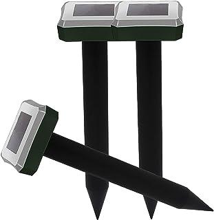 Sumeber 改良版 ソーラー式 動物撃退器 超音波 モグラ撃退器 ネズミ撃退器 害獣撃退 モグラ退治 蛇駆除 IP55防水防塵 超音波 地下モグラ ネズミ 蛇などの対応 アウトドア (3個セット) (SK516)