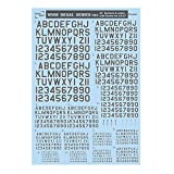 サンコーマーク工業 レプトジーダ プラモデル用 水転写 M03 45度 Numbers&Letters with Shadow グレー 13.5×19.5cm WING DECAL SERIES WM-08