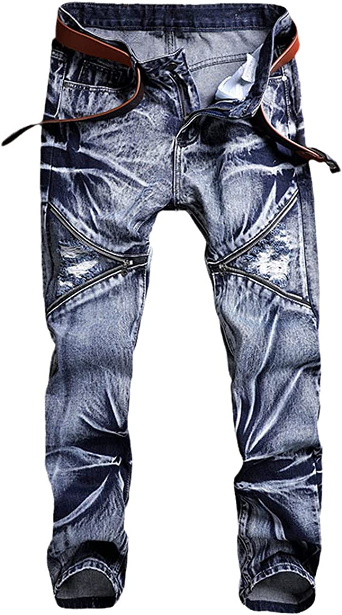 Jeans Men's Classic Fashion Pants Denim Cycling Pants Slim Fit Loose Straight Pants Design