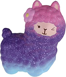 """ZERMDIEY1 Squishy Jumbo 6.5"""" Alpaca Toy Slow Rising Scented Soft Stress Relief Cute Sheep Squeeze Squishies Charms Kids Adults Gifts(Galaxy)"""