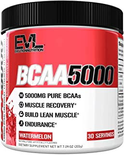 Evlution Nutrition BCAA5000 Powder 5 Grams of Branched Chain Amino Acids (BCAAs)..