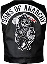 LovezLeather Men's SOA Sons of Anarchy Highway Biker Leather Vest | Black Faux Leather Vest