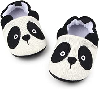 Sawimlgy Infant Baby Boys Girls Non Slip Walking Slippers Shoes Soft Sole Warm Booties with Grip Socks Home Moccasins Newborn Gift First Crib Shoes