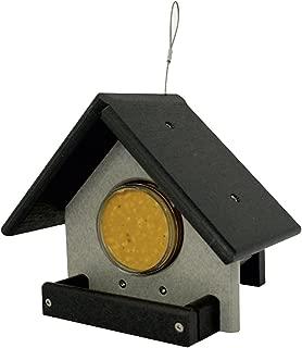 Glori-Be's GREEEN Meadow Black and Gray 18 0z Peanut Butter JAR Bird Feeder Poly Lumber Amish Handmade no Rot no Fade Weatherproof Birds Love it!!