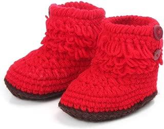 DZT1968® Baby Girl Crochet Knit Keep Warm Floor Socks Shoes Boots (3-12 Months)
