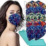 Cussi - 10x Mascarilla Protectora FFP2 NR Adulto 5 capas Estampados Variados + Mask Case color aleatorio
