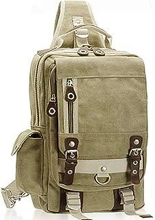 Men's Chest Bag - Canvas Shoulder Bag, Large-capacity Fashion Men's Shoulder Bag Diagonal Package