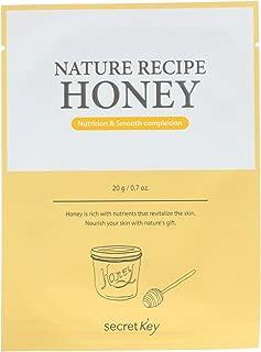 Secret Key Nature Recipe Mask Pack Honey 10 Masks 0 7 oz 20 g Each