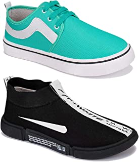 WORLD WEAR FOOTWEAR Men Multicolour Latest Collection Sports Running Shoes-Pack of 2 (Combo-(2)-9157-9106)