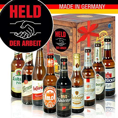 Held der Arbeit - Ostdeutsche Biere - Geschenkset für Ihn