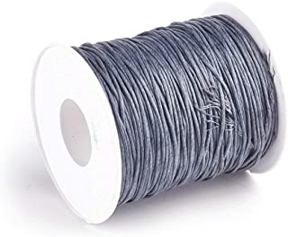 (1mm, Gray) - Craftdady 1mm 100 Yards Jewellery Making Beading Crafting Macrame Waxed Cotton Cord Thread Rope String (Grey)