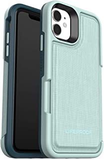 LifeProof Flip Wallet Case, Premium, Drop Protective Wallet Case for iPhone 11 - Water Lily (77-63486)