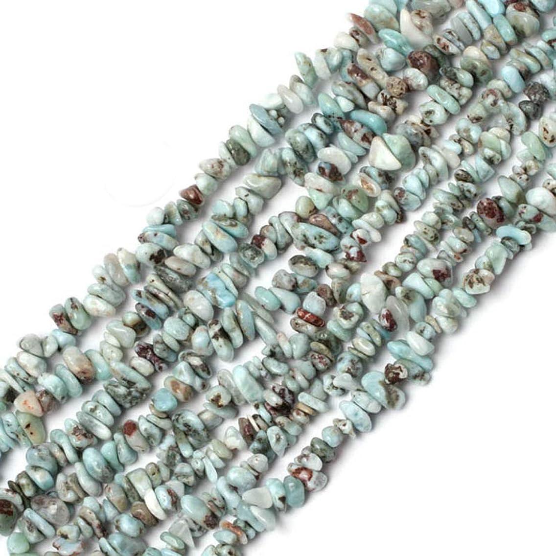 GEM-inside 6-7mm Larimar Chips Beads Strand Freeform Handmade Beads for Jewelry Making Jewelry Beading Supplies for Women