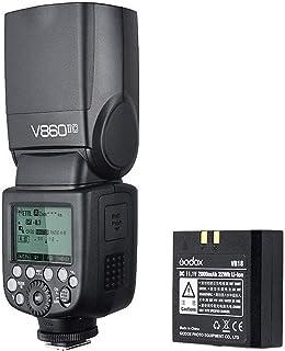اضاءة فلاش السرعة من جودوكس V860II لكاميرا كانون دي اس ال ار مع نظام اكس لاسلكي وشاشة ال سي دي - اسود